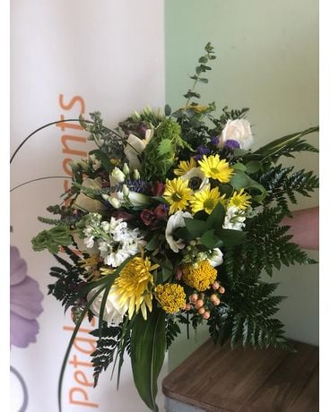 The Swiss, wrapped Flower Arrangement