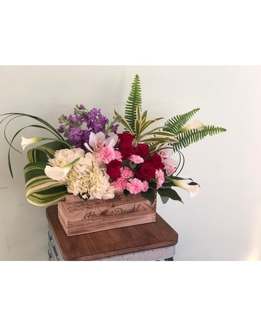 The Ultimate Love-Box Flower Arrangement