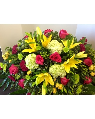 Custom Funeral Casket Spray Flowers