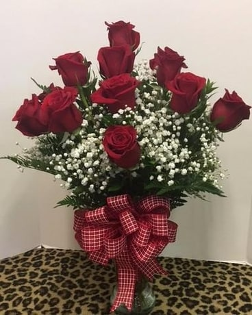 1 Dozen Red Roses Flowers