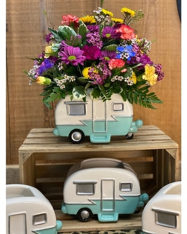 Glamping Flower Arrangement