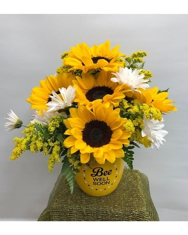 Bee Well Sunflowers Flower Arrangement