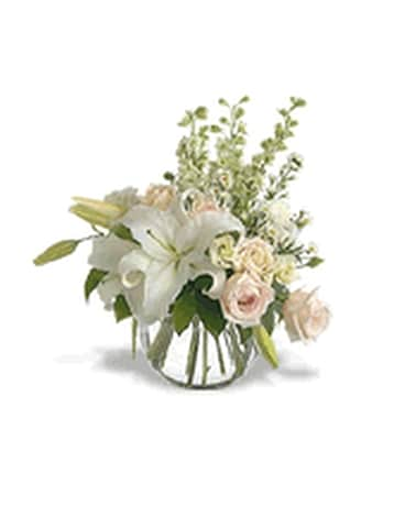 Fantasy In White Flower Arrangement