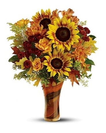 Teleflora's Artful Autumn Bouquet - Deluxe Flower Arrangement