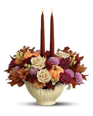 Lenox Sauce Server Bouquet by Teleflora - Deluxe Flower Arrangement