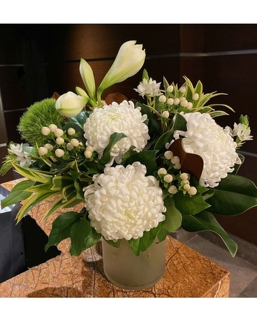 WINTER WHITES FLORAL DESIGN Flower Arrangement
