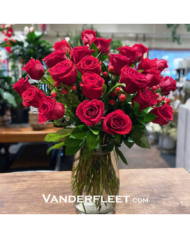 Red Roses - Long Stemmed Flower Arrangement
