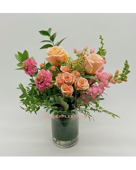 Soft Apricot Garden Floral Design Flower Arrangement