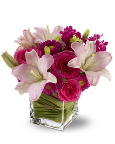 Teleflora's Posh Pinks - by Lary's Florist & Desig Flower Arrangement