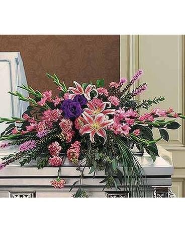Triumphant Casket Spray - by Lary's Florist & Desi in