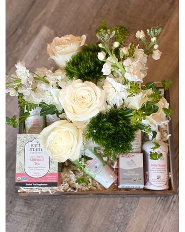 New Mom Gift Crate Gift Basket