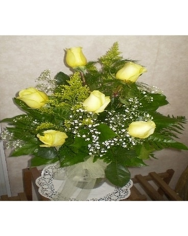 Signature Half Dozen Roses- YELLOW