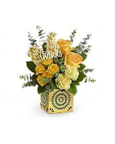 Teleflora's Shimmer Of Thanks Bouquet Flower Arrangement