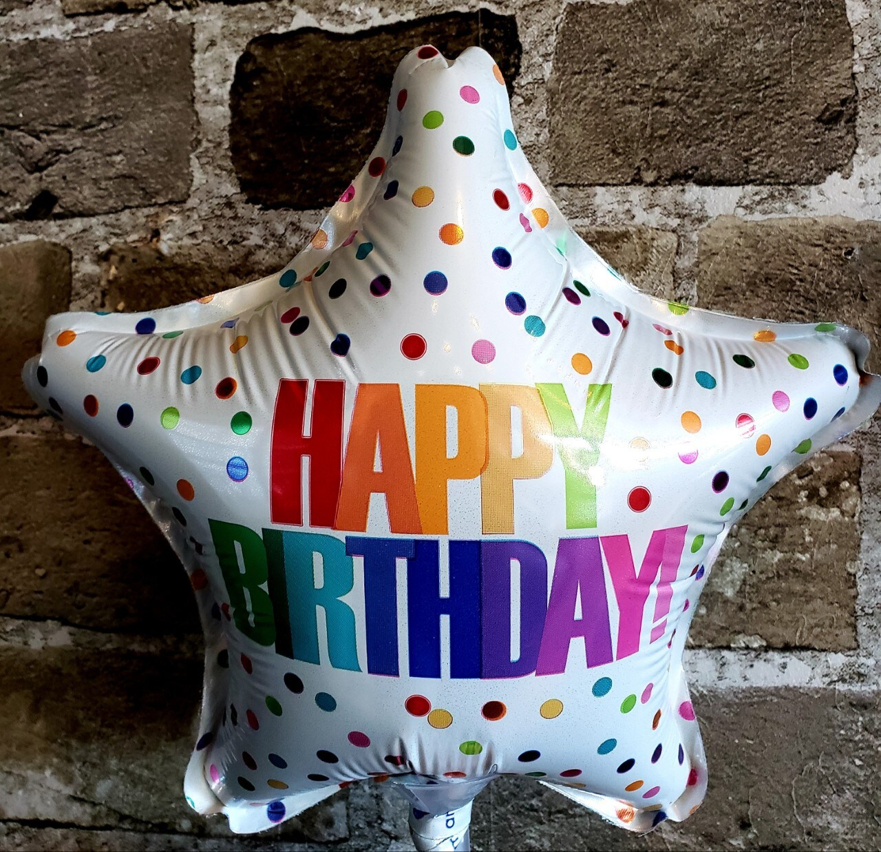 9-inch Happy Birthday Mylar Balloon