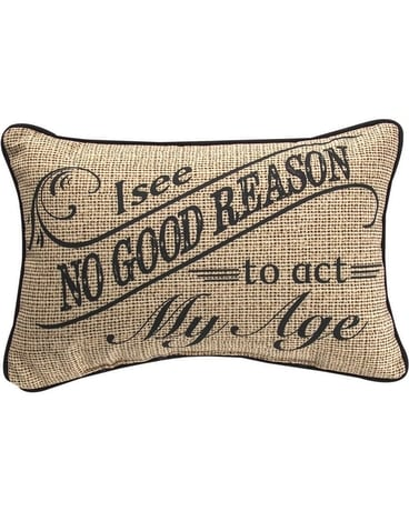 Act My Age Pillow