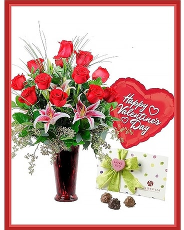 Sweetheart Spectacular Flower Arrangement