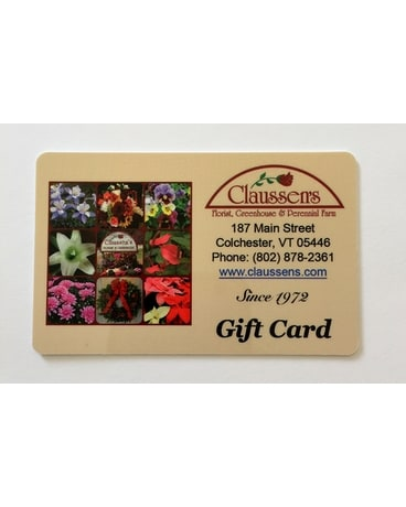 Claussen's Gift Card $50.00 (mailed) Gifts