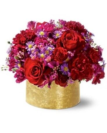 Blushing Blossom Centerpiece Flower Arrangement