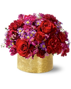 Blushing Blossom Centerpiece Flower Arrangement