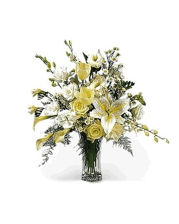 Snowy Elegance Flower Arrangement