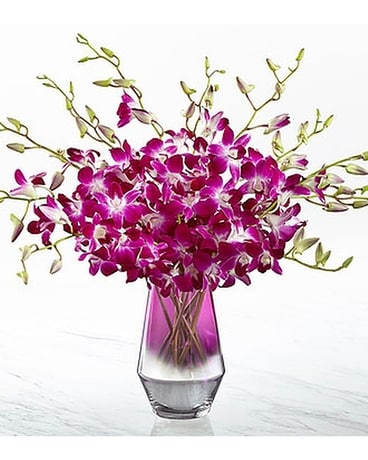 The FTD® Pink at Heart™ Orchid Bouquet Flower Arrangement