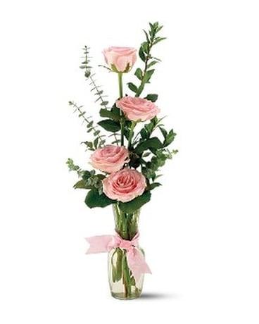 Telefloras Rose Quartet Vase In Claremore Ok Floral Creations