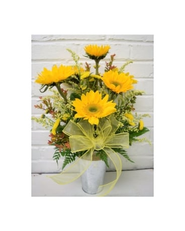 Sunshine Pail Flower Arrangement