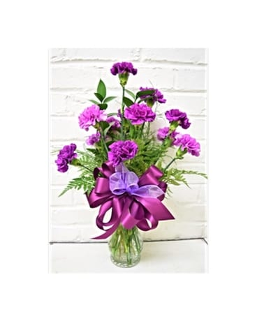 Purple Notion Flower Arrangement
