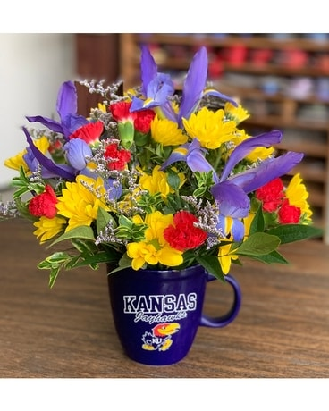 Jayhawk Mug Arrangement