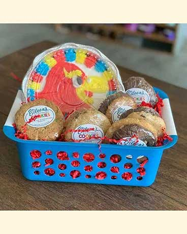 KU Iced Cookie Basket Gift Basket