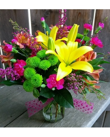 A Bright Surprise Flower Arrangement