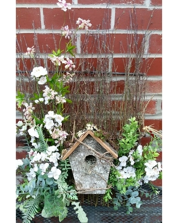 Bird House in Apple Blossoms Custom product