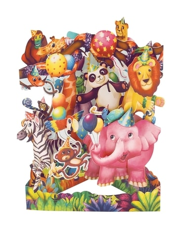 Animal Party Swing Card Gifts