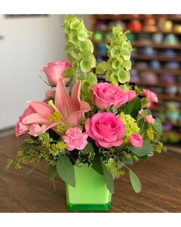 In Love with Lime Flower Arrangement