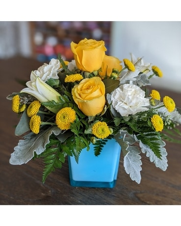 Golden Laughter Flower Arrangement