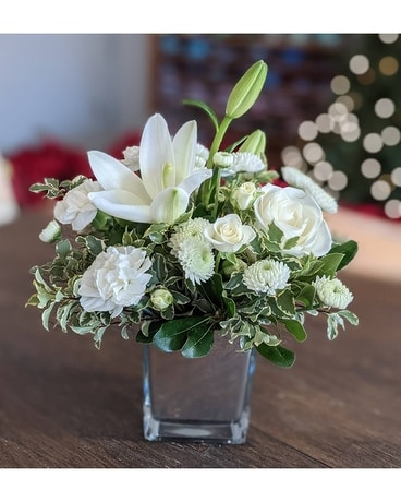 Custom Arrangement- All White Flower Arrangement