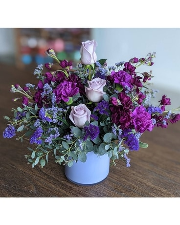 Custom Arrangement- Cool Colors Flower Arrangement
