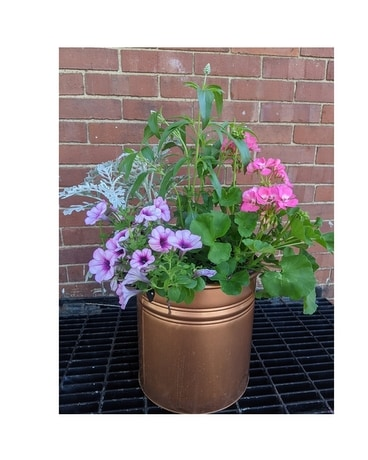 Tall Copper Bucket Outdoor Planter Plant