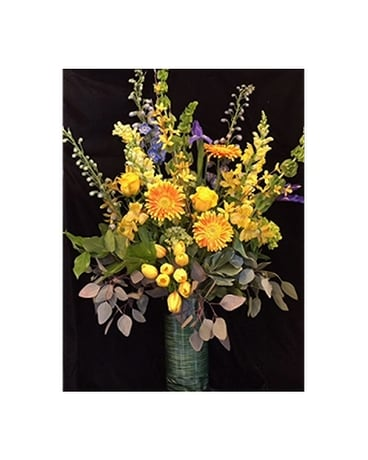 Golden Dance - by Cedar Grove Gardens Flower Arrangement