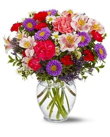 Pink and Purple Inspiration Flower Arrangement