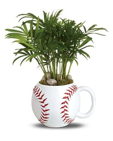 Base Hit Planter Flower Arrangement