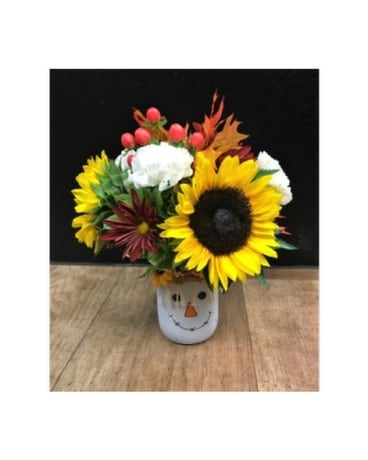Pick of the Patch- Scarecrow Flower Arrangement