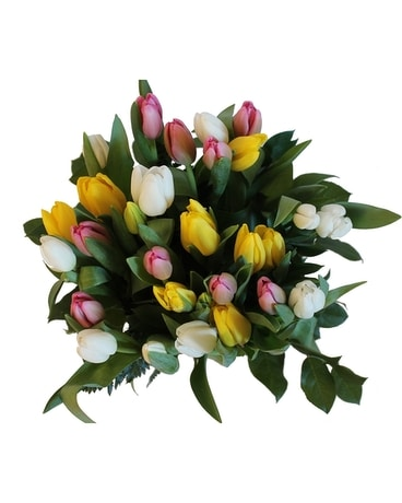 Pink, Yellow, and Tulips Bouquet