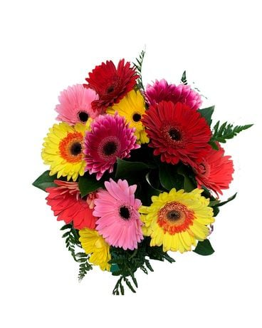 Gorgeous Gerbera, Love Trifecta Flower Arrangement