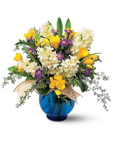 Fragrant Spring Flower Arrangement