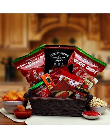 Hot & Spicy Sriracha Gift Basket