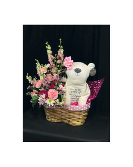 Sweet Little Blessings Baby Girl Flower Arrangement