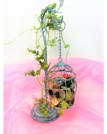 BIRD CAGE hfs-bird in Pittsburgh PA - Harolds Flower Shop