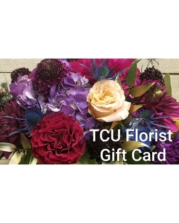 TCU Florist Gift Cards Flower Arrangement