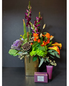 Buds, Suds & Rubs Flower Arrangement